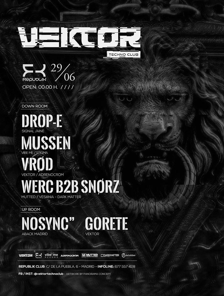 Vektor Techno Club - Drop-E + Mussen